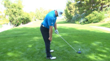 weight distribution and spine angle at setup down the line view