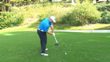 ste-by-step downswing in fluid motion down the line view